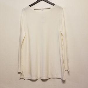 J.jill Olivia pullover tunic/sweater in cream